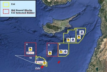 Exploration blocks offshore Cyprus